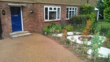 Transforming a front garden to a contemporary drive.